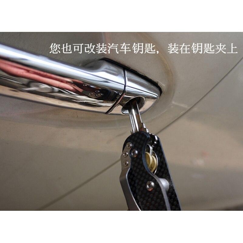 2 ADET Araba alüminyum kompakt depolama EDC şanzıman ana - Araç Içi Aksesuarları - Fotoğraf 2