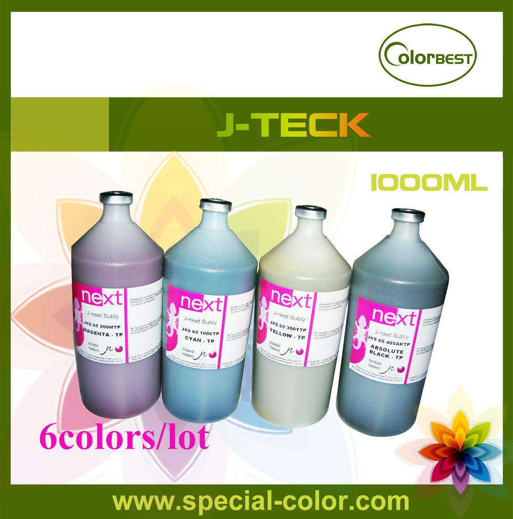 6colors/set 100% Original Textile Transfer Ink J-Teck Waterbased Ink Sublimation Ink from Italy sublimation ink with 6 colors for epson printers heat transfer ink heat press sublimation ink on high quality