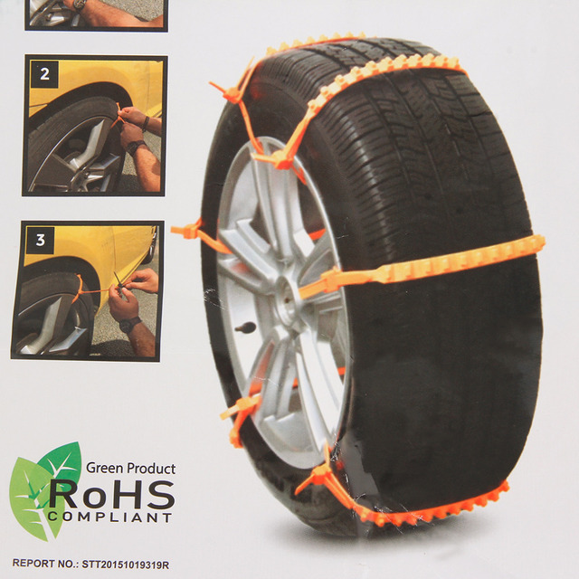 2016 New Yellow Nylon Universal Adjustable Auto Car SUV Snowblower Tire Snow Chains Mug Ice Road Ground Anti Wheel Slip Chain