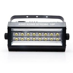 Image 2 - חם למכור מתח גבוה סופר בהיר DMX שליטה קולית 16 LED הסטרובוסקופ 400W Strobe מנורת מסיבת דיסקו DJ בר אור strobe אורות