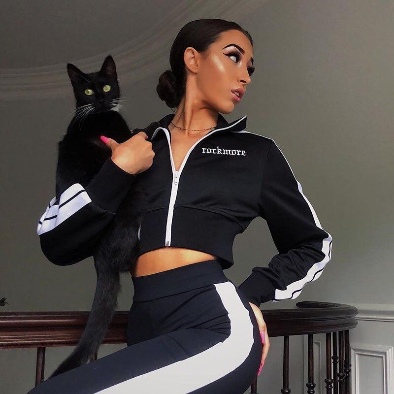 Women's Black   Basic     Jacket   Long-sleeved Zipper Bomber   Jacket   Casual   Jacket   Coat Spring Slim Winter Streetwear