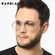 WarBLade Band Glasses Alloy Gold Frame Glasses Classic Optics Eyeglasses Transparent Clear Lens Women Men Fake Glasses Female