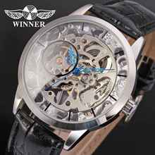 WINNER Mens Watches Military Sport Clock Male Top Brand Luxury Skeleton Clocks Hand Wind Mechanical Business Men Watch Gift 0127(China)