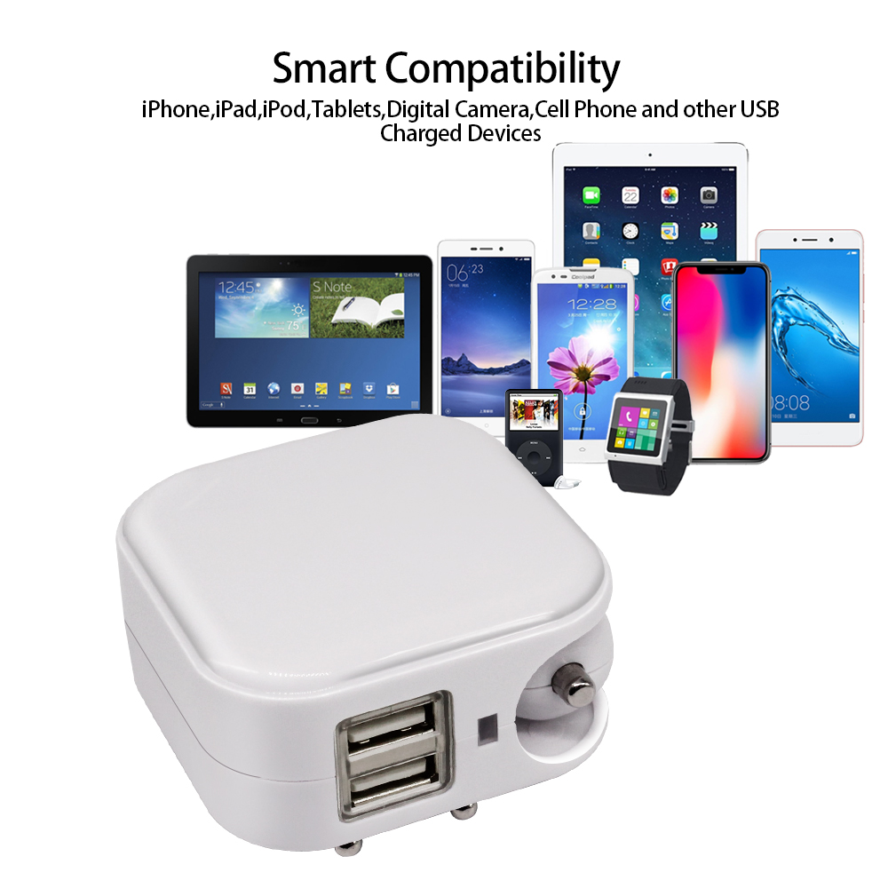 V 2.1A USB Charger,USB Car Charger, Power Adaptor Charger Compatible with Mobile's,iPhone's,iPad's,Android,Tablets and Cars