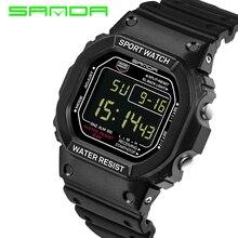 2017 marca sanda reloj de pulsera hombres g estilo impermeable choque de lujo de los hombres relojes deportivos militar relojes digitales relogio masculino