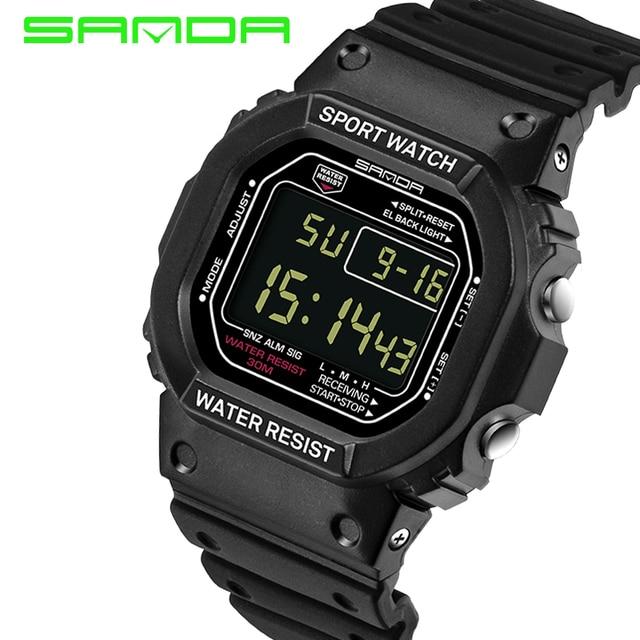 e985289be00 A Qualidade superior Da Marca SANDA Relógio Das Mulheres Dos Homens Ultra  Fino Relógio Digital LED