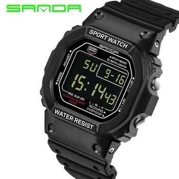 Merk SANDA Polshorloge Mannen Vrouwen G Stijl Waterdichte Sport Militaire Horloge Schok mannen Luxe Digitale Horloges Relogio Masculino