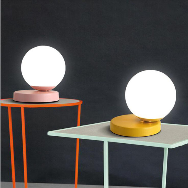Bedside Round Table.Us 61 2 49 Off Personality Simple Creative Nordic Children Bedroom Bedside Lamp Bedroom Study Round Table Lamp Lighting Fixture Led Book Lamps In