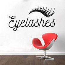 цена на Eyelashes Decal,Eyelashes Eye Window Vinyl Sticker,Girls Eyes,Eyebrows Decal,Brow Bar Decal,Beauty Salon Make Up Decal 3068