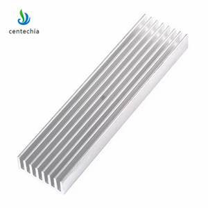 Image 4 - Durable Silver Aluminium Radiating Fin Cooling Heatsink 100*25*10MM for LED Power Transistor Electrical Radiator Chip