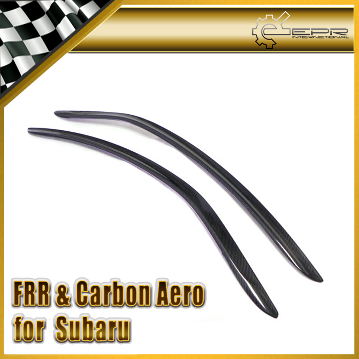Promotion Car Styling For Subar BRZ ZC6 FOR Toyota FT86 ZN6 Scion GT86 Carbon Fiber Wind Deflector Visor 2pcs