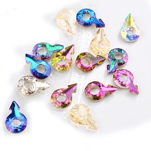 5pcs Crystal Arrow Mars Shape Nail Art Rhinestones Colorful Glass Jewelry Chameleon 3D Glitter Decorations For DIY Accessory