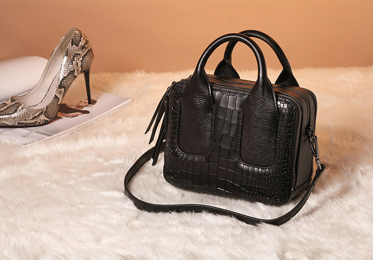 Qiwang Nice Box Bags Luxury Fashion Women Lay Bag 17 Italian Crocodile Handbags Purse Leather Lady Hand Collection Bag 3