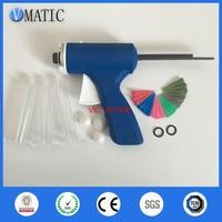 Free Shipping 2019 Quality 10cc/ml Manual UV Glue Syringe Dispenser Dispensing Gun With Syringe And Needles