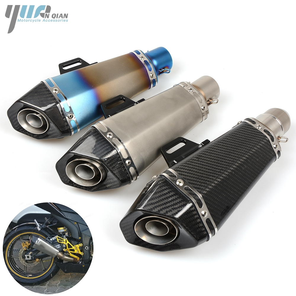 YUANQIAN Motorcycle Exhaust Pipe Muffler Pipe For KTM Duke 390 125 200 690 1290 990 SuperDuke RC 125 200 390 1190 Adventure R for ktm logo 125 200 390 690 duke rc 200 390 motorcycle accessories cnc engine oil filter cover cap
