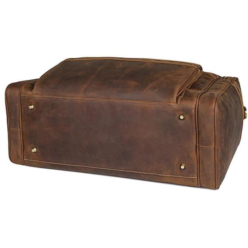 LEXEB Fullkornsläge Business Travel Duffle För Män Övernattning - Väskor för bagage och resor - Foto 5