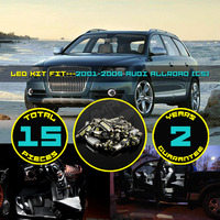 15x Canbus LED Car Interior Dome Map Reading Side Door Foot Light Kit Xenon White Warm