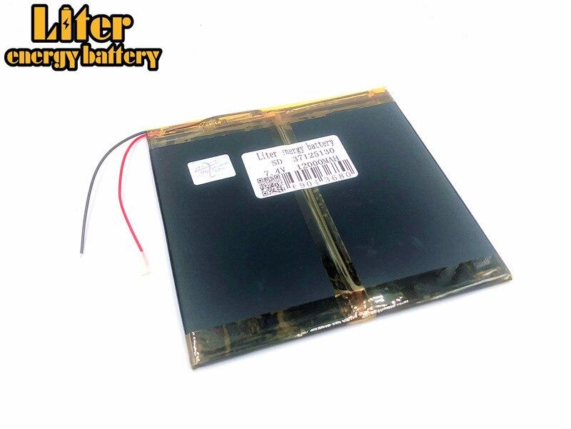 7,4 V 12000 Mah Li-ion Batterie 37125130 35125130 Für M6 M6pro 3g Freelander Pd800 Tablet Pc M6pro 37*125*130mm Einen Einzigartigen Nationalen Stil Haben