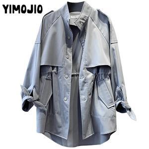 Image 5 - Trench coat Long Trench Spring coat women Casual Slim Trench coat for women Elegant Outside X long Skirt coat Streetwear Sweet