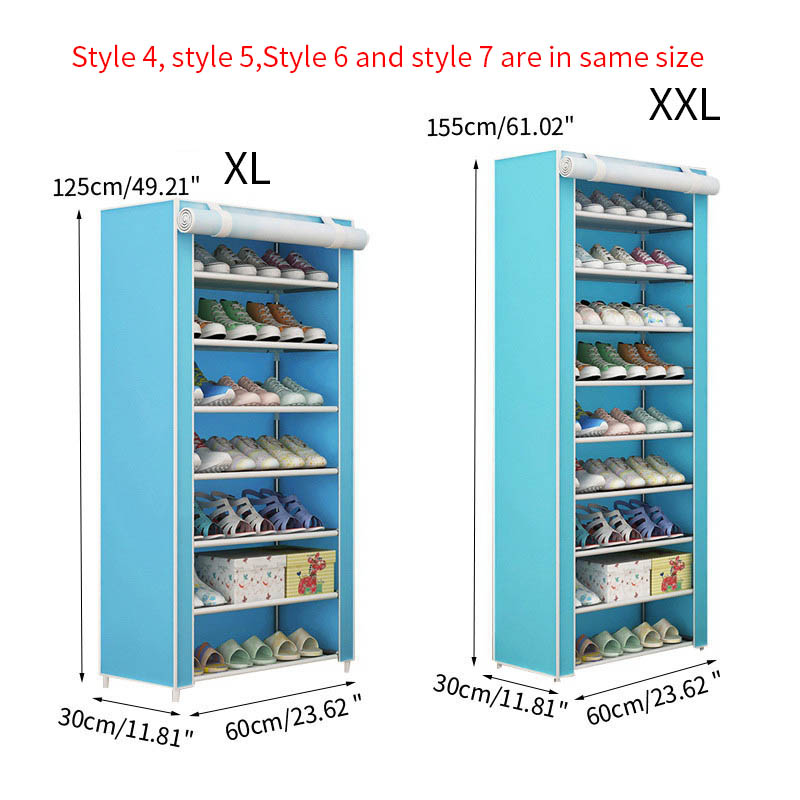 Image 3 - Furniture Shoe Racks Shoe Cabinets Save Space Multiple Layers Shoes Shelf Holder Stand Dustproof Home Organizer Living RoomShoe Cabinets   - AliExpress
