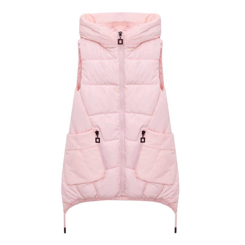 B3470 2020 新秋冬韓国語バージョンの女性の服のファッションコートロングスタイル学生スリムベスト格安卸売