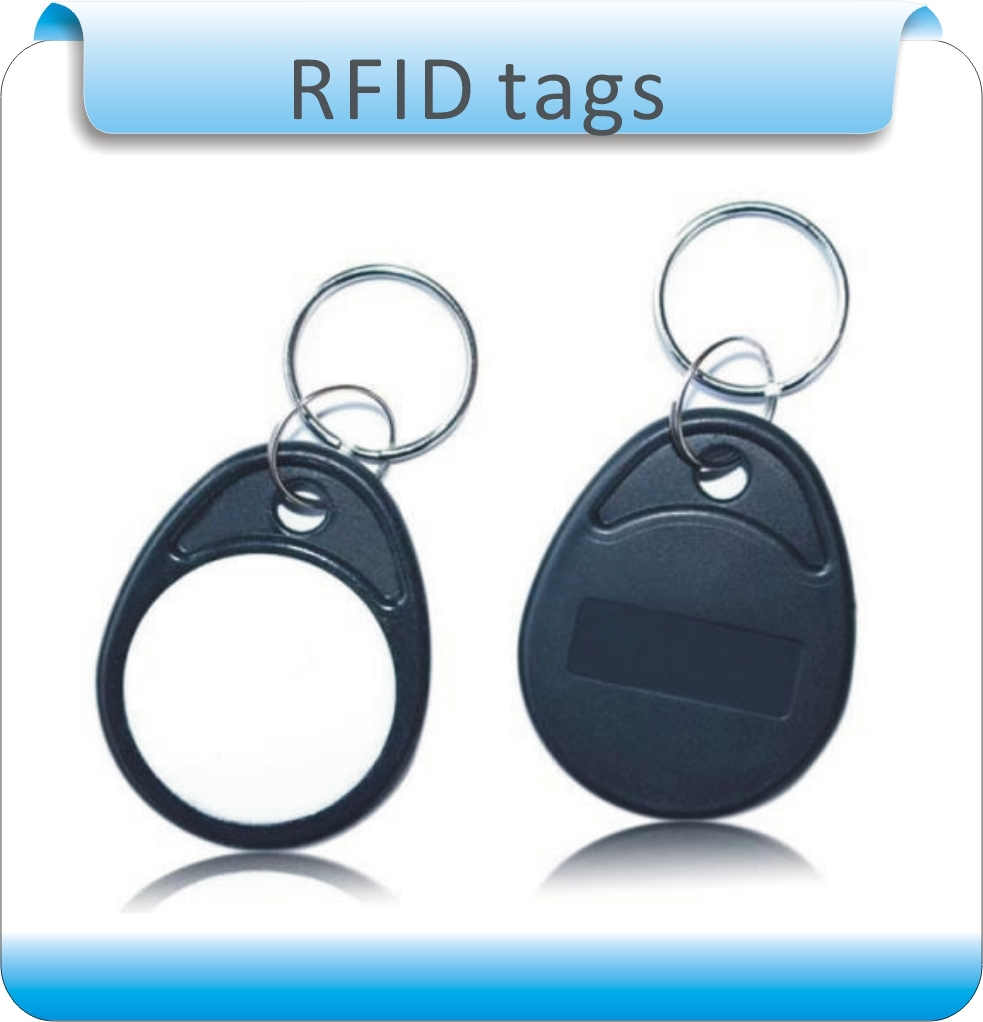 Free Shipping 50pcs ABS Material Black&white 4# M1 13.56MHZ Smart  RFID Key Chain Tags/access Control System Card