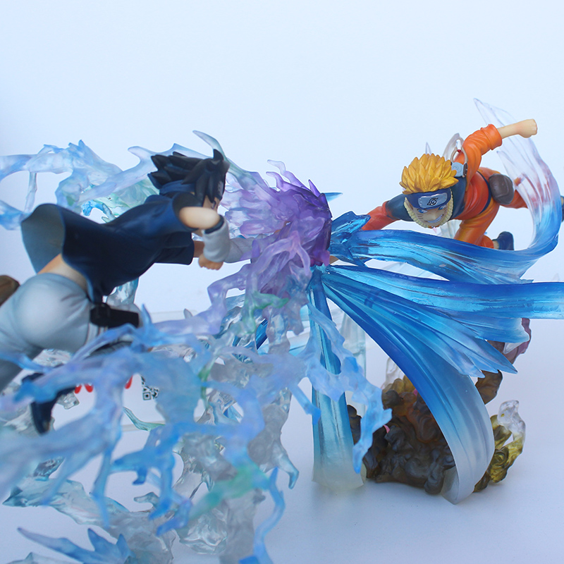 Uzumaki naruto VS Uchiha Sasuke Japanese Anime NARUTO Figures pvc Model Collection Toys ynynoo naruto sasuke kurama pvc action