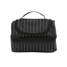 Yesello, Большая вместительная черная полосатая двухслойная Термосумка для ланча, сумка для путешествий, термос, сумки для детей и женщин