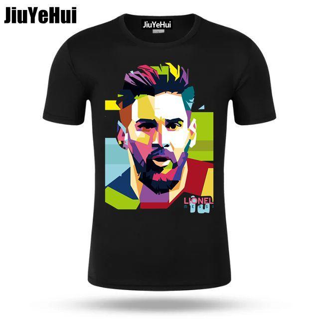 Новый Лионель Месси футболка Barcelona Для мужчин; короткий рукав футболки Месси 100% хлопок футболка Топы Аргентинская футболка для фанатов футболка