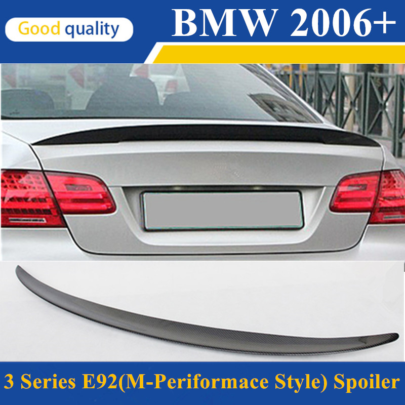 M performance style e92 coupe e93 cabriolet spoiler rear trunk wing for bmw 3 series 2-door 2006 - 2012 gloss black p style