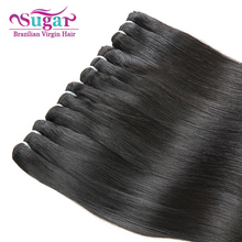 7A Mink Brazilian Virgin Hair 2Bundles Straight Sugar Hair Virgin Brazilian Straight Hair 1B Brazilian Wet and Wavy Virgin Hair