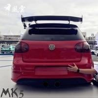 Гольф 4 5 6 7 MK4 5 6 7 GT Стиль углеродного волокна задний крыша спойлер крыло для Volkswagen МК 4 5 6 7 MK 7,5 2008 2018