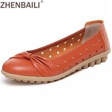 Для женщин Обувь кожаная для девочек 2017 весенние модные мягкие без застежки повседневная обувь на плоской подошве в горошек нескользящей плоской подошве Обувь полые