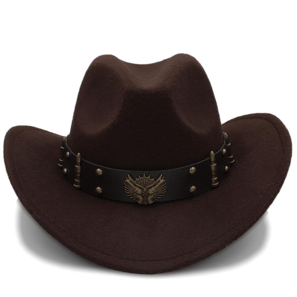 Hats Cowboy Hats Fashion: Fashion Wome Black Wool Chapeu Western Cowboy Hat Jazz
