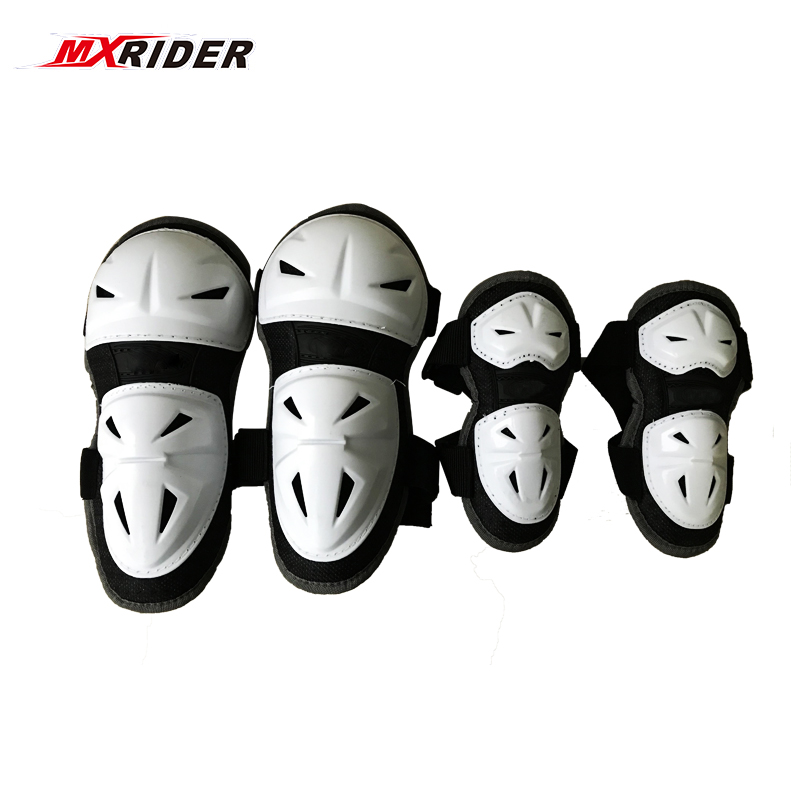 4pcs/Lot 2018 Hot Children Motorcycle Knee Protection Knee Shin Guards Youth Kids Motocross Guard Pad For Kids Sport Protector