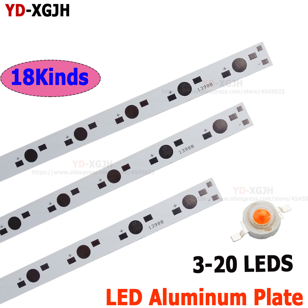 10pcs 1 3 5W LED 78MM 150MM 300MM 390MM 400MM 500MM 595MM Aluminum Base Plate PCB Board Substrate DIY For High Power Light Beads