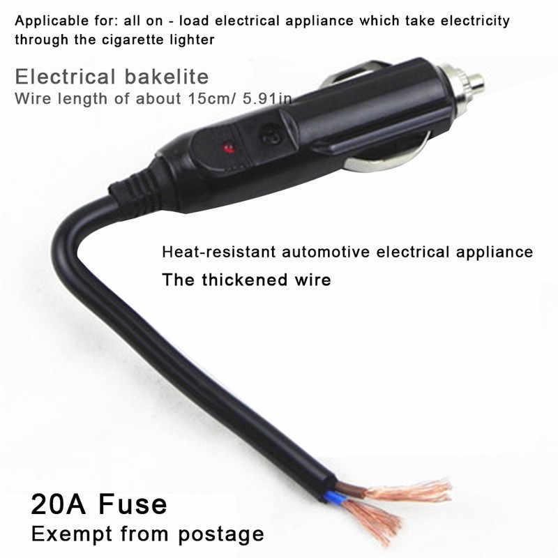 12 V/24 V אוטומטי LED זכר מצית שקע מחבר עם 20A נתיך רכב אלקטרוניקה