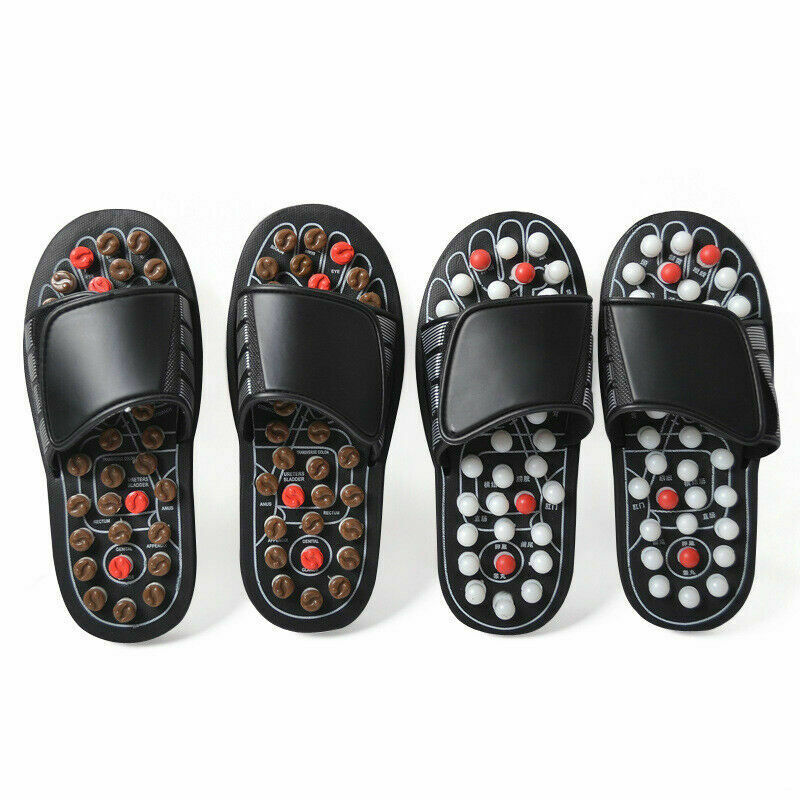 Acupoint Massage Slippers Sandal For Men Feet Chinese Acupressure Therapy Medical Rotating Foot Massager Shoes Unisex