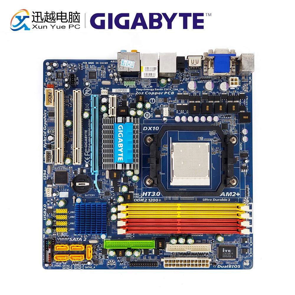 Gigabyte GA-MA78GM-US2H Desktop Motherboard MA78GM-US2H 780G Socket AM2 AM2+ AM3 Phenom FX X4 X3 DDR2 16G SATA2 USB2.0 Micro-ATXGigabyte GA-MA78GM-US2H Desktop Motherboard MA78GM-US2H 780G Socket AM2 AM2+ AM3 Phenom FX X4 X3 DDR2 16G SATA2 USB2.0 Micro-ATX
