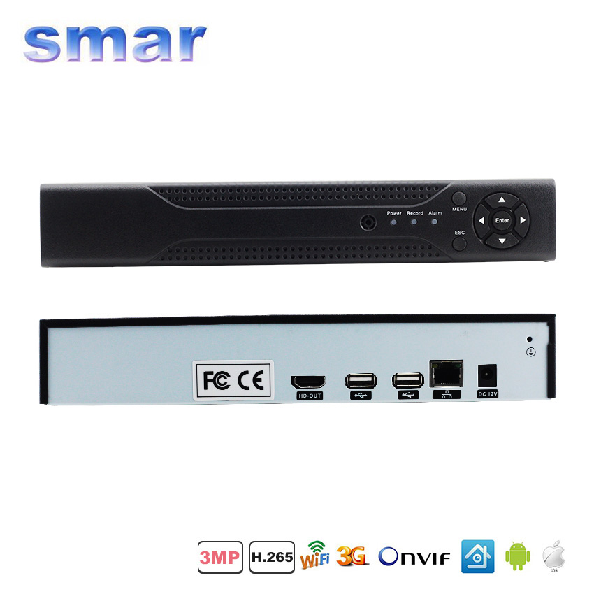 HI3798M Processor 8CH H.265 CCTV NVR Max 4K Output Security Network Recorder 4CH 5MP/8CH 3MP/16CH 960P For H.265/H.264 IP Camera wavelets processor
