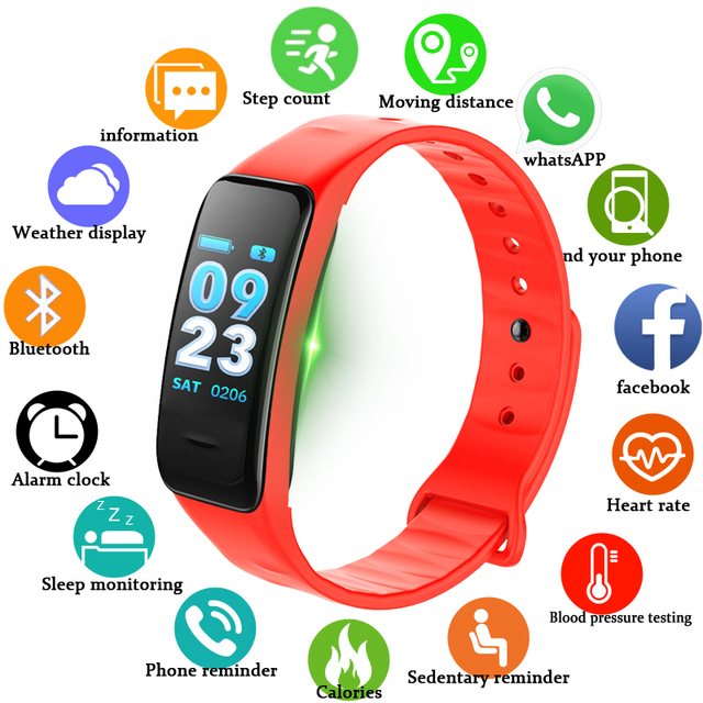 b6ff8a18d34 BANGWEI Sport Bracelet Watch Women Men LED Waterproof Smart Wrist Band  Heart rate Blood Pressure Pedometer Clock For Android iOS
