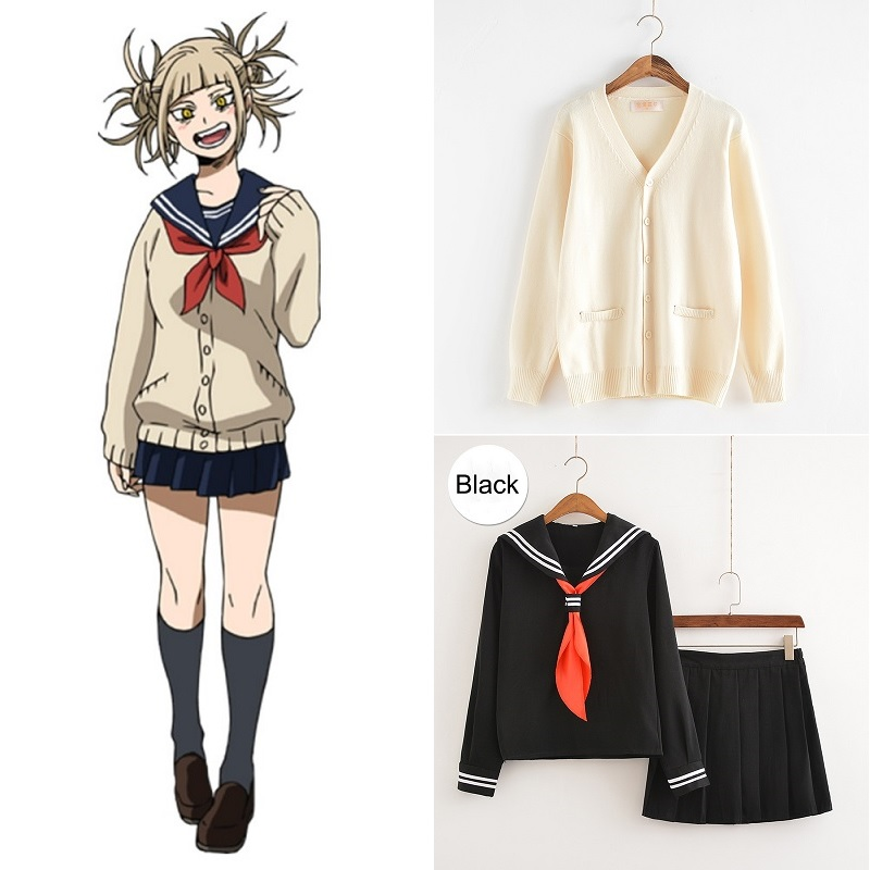 Cosplay Costume My Hero Academia Anime Cosplay Boku No Hero Academia Himiko Toga JK Uniform Women Sailor Suits With Sweaters