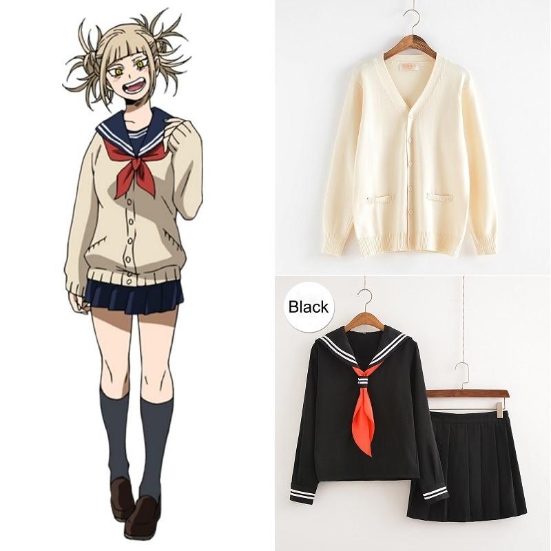Cosplay Costume My Hero Academia Anime Cosplay Boku No Hero Academia Himiko Toga JK Uniform Women Sailor Suits With Sweaters