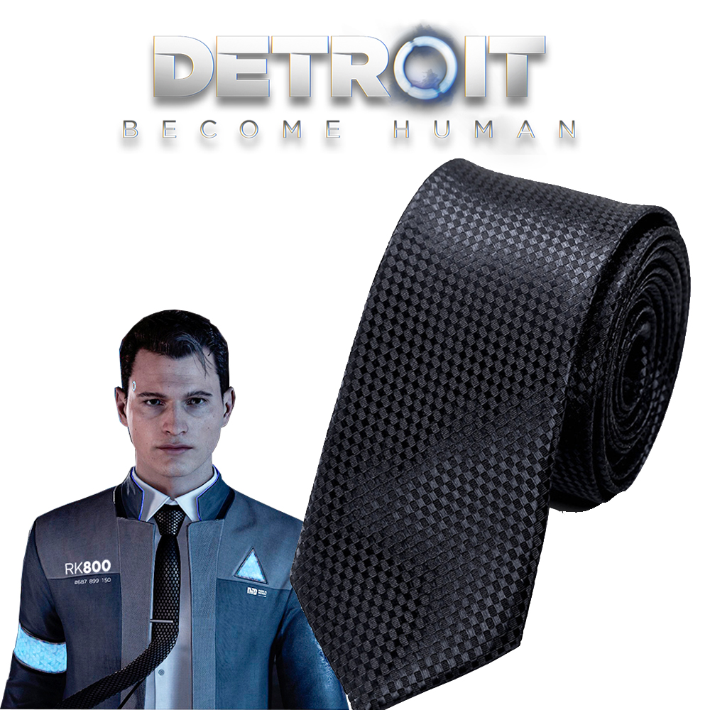 Game Detroit: Become Human Cosplay Connor RK800 Tie For Man Women Classic Business Slim necktie Fashion Shirt Dress Accessories