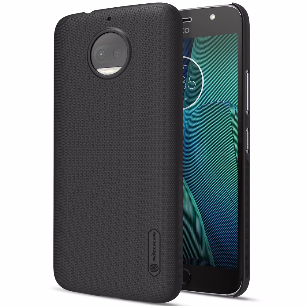 Case For Motorola MOTO G5S Case MOTO G5S Plus cover NILLKIN Super Frosted Shield matte hard back cover +free screen protector