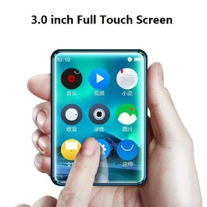 Image 1 - X6 Full Touch Screen MP3 Player 8GB 40GB Music Player with FM Radio Video Player E book Built in Speaker PK benjie x6 x5 RUIZU