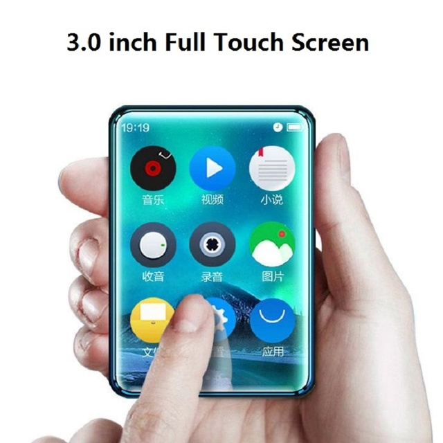X6 Full Touch Screen MP3 Player 8GB 40GB Music Player with FM Radio Video Player E book Built in Speaker PK benjie x6 x5 RUIZU