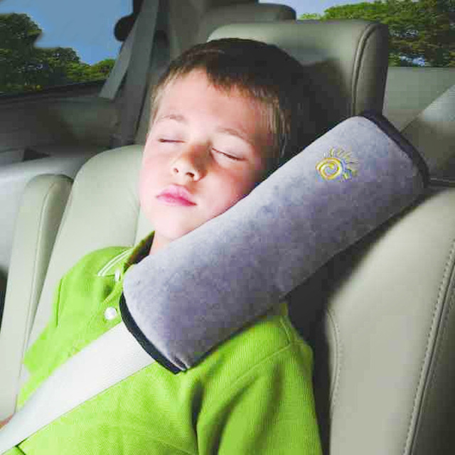 mambobaby baby pillow kids neck protection pillow car safety seat belt shoulder pad cover support pillows