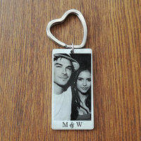 New Fashion Custom Key Chain Stainless Steel Key Ring Photo Keychain Jewelry Charm Perfect Gift Dropshipping