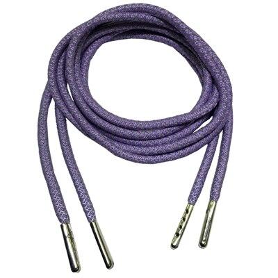 3м Reflective Runner круглые шнурки для ботинок, длина с серебряными наконечниками с металлическим наконечником с фактурой советы - Цвет: Violet